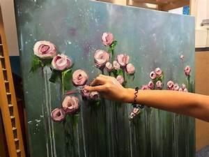 Blumen Gemälde In öl : gro e blumen kunst arbeit gro e l gem lde malerei ~ A.2002-acura-tl-radio.info Haus und Dekorationen