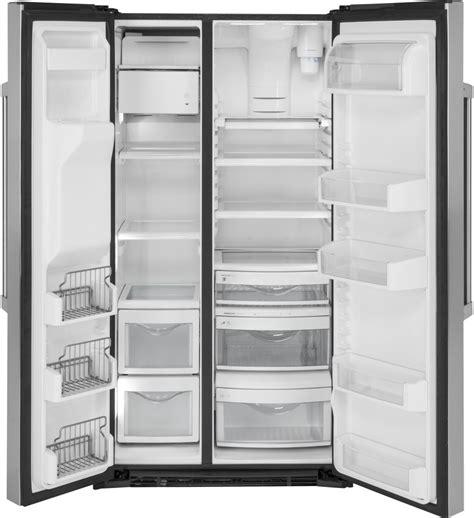 ge czsmskss   counter depth side  side refrigerator   cu ft capacity