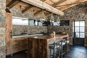 Rustic man cave ideas kitchen rustic with exposed stone