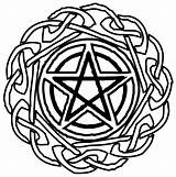 Wiccan Lycan Coloring Spirit Pentacle Celtic Tattoo Tat Deviantart Pentagram Tattoos Pagan Mandala Template Pyrography Knots sketch template