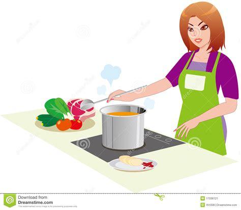 femme cuisine le femme dans la cuisine image stock image 17036121