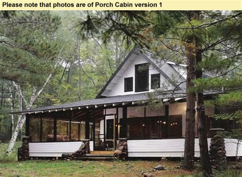 vacation cabin plans small home huge screened porch