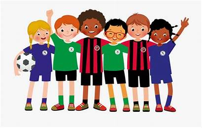 Team Clipart Soccer Playing Football Player Training