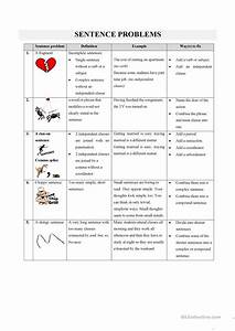 Sentence Problems Worksheet