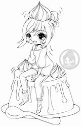 Coloring Yampuff Deviantart Pages Anime Lineart Chibi Caramel Kawaii Creme Chiharu Colouring Sheets Chibis Books Coloriage Dessin Disney Imprimer Printable sketch template