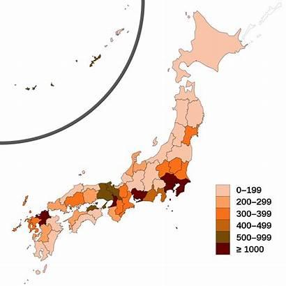Population Japan Map Density Svg Japans Datei