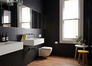 Salle De Bain Noire Et Blanche : cuisine salles de bain par jane cameron architects ~ Melissatoandfro.com Idées de Décoration