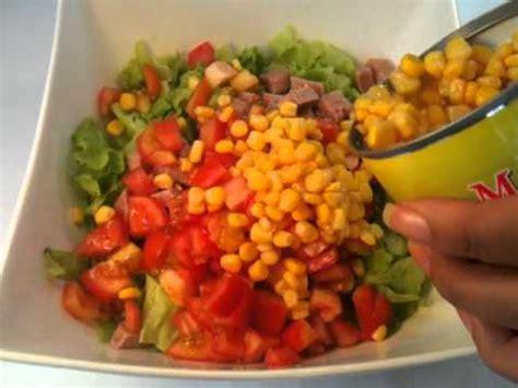 salade d été originale faire une salade au mais doux recette de salade originale
