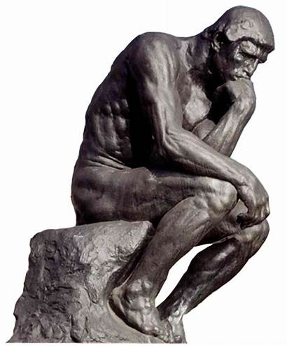 Thinking Statue Thinker Transparent Sculpture Clipart Bronze