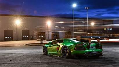 Lamborghini 4k Aventador Wallpapers Rear 8k Liberty