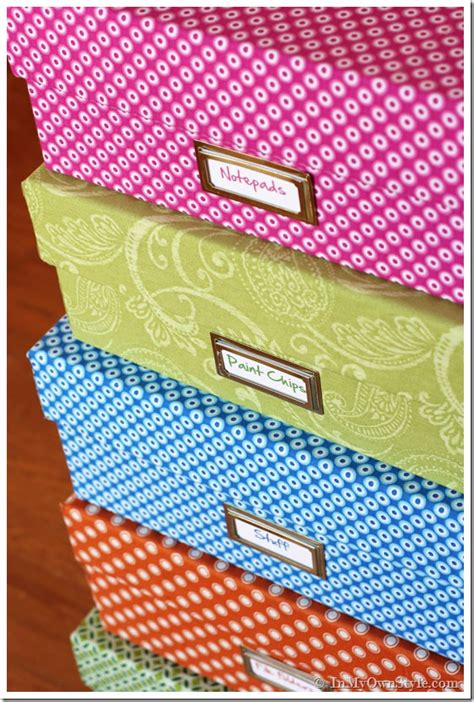 yard decor fabric covered boxes    style
