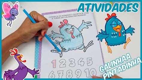 Caderno de atividades da Galinha Pintadinha Aprendendo a