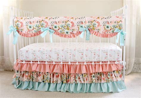 pink and grey bedding sets bumperless crib bedding blush pink floral lottie da baby