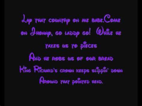 The Phoney King Of England - Disney's Robin Hood Lyrics ...