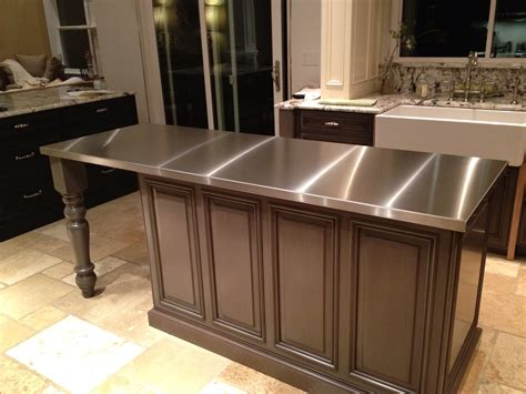white kitchen island with granite top stainless steel countertops custom metal home
