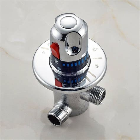 rozin solid brass g1 2 thermostatic mixing valve for shower system water chrome ebay