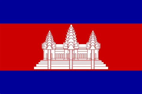 auspicious flags colouring nations  cambodia