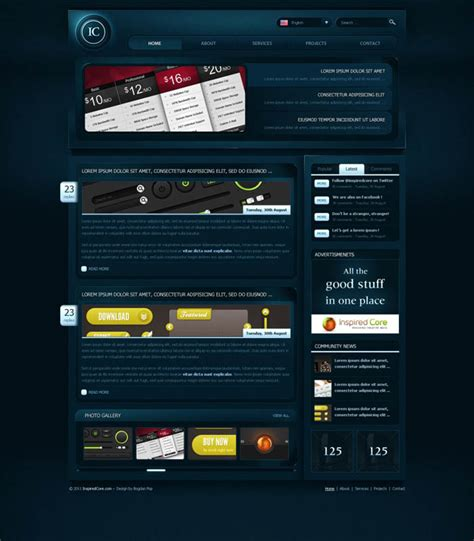 gaming website template 13 gaming photoshop template psd images tennis cover template gaming