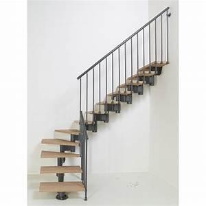 Escalier Bois Quart Tournant : escalier quart tournant long structure acier marche bois ~ Farleysfitness.com Idées de Décoration