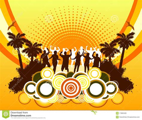 beach party background stock vector image  element