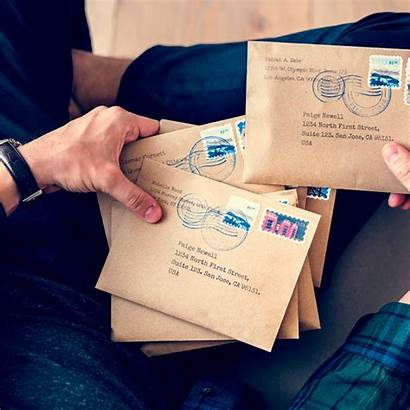 Stamp Letter Mail Send Without Stamps Many