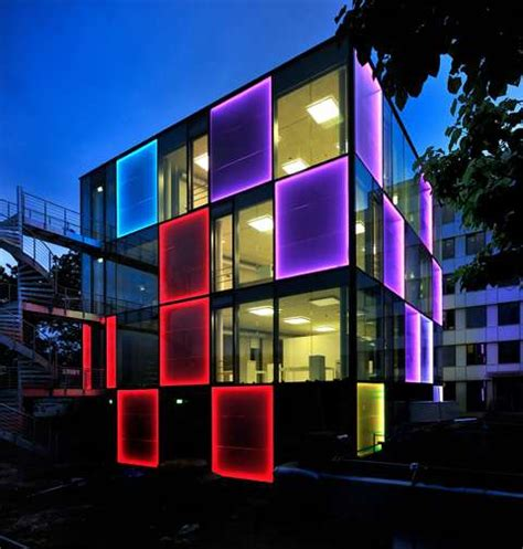lighting system in building disco like architecture energy cube