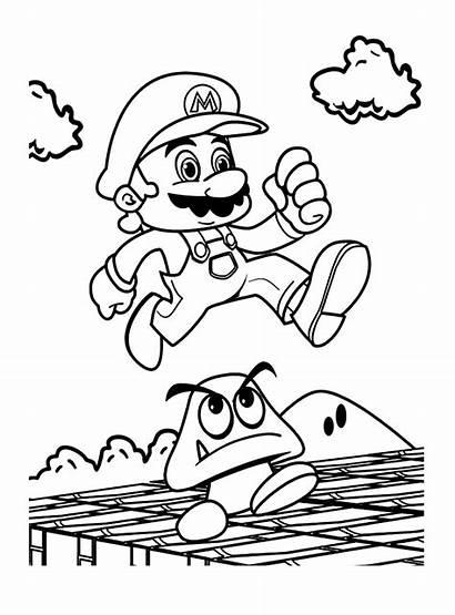 Mario Coloring Bros Dessin Colorier Imprimer Kart