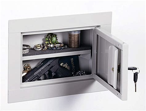 Stack On In Wall Gun Cabinet - stack on wall safe flat gun cabinet secure lock box