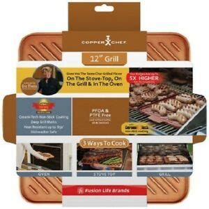 copper chef grill griddle   tristar products    tv  ebay