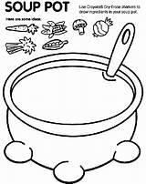 Coloring Soup Pot Crayola sketch template