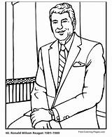 Coloring Ronald Reagan Presidents Printable President Mcdonald Printables Sheets Wilson Colouring Usa Facts History States United Presidential Coloringhome 40th sketch template