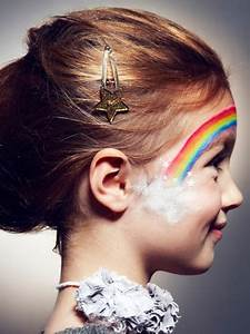 Modele Maquillage Carnaval Facile : maquillage enfant arc en ciel ~ Melissatoandfro.com Idées de Décoration