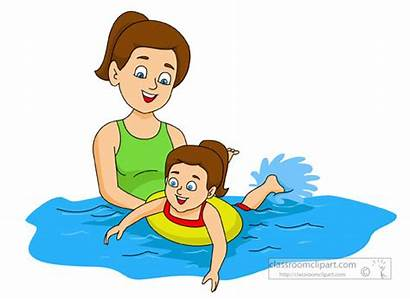 Swimming Swim Child Clipart Young Teaching Learn