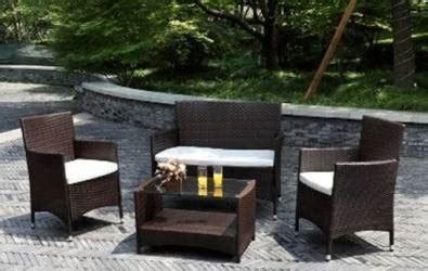 atlantis 4 wicker patio outdoor living set w