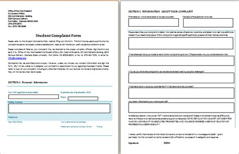 Customer Complaint Book Template Uk by Student Complaint Form Template Complaints Pinterest