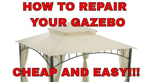 fix  gazebo cheap  easy summer veranda gazebo repair youtube