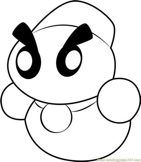 chilly coloring page  kids  kirby printable