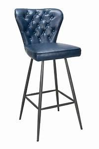 Tabouret De Bar Bleu : tabourets hauts de bar retro en cuir mod le norwich ~ Teatrodelosmanantiales.com Idées de Décoration