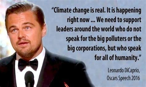 Leonardo DiCaprio Devotes Oscars Speech to Climate Change ...