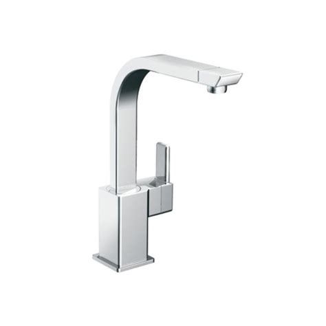 moen 90 degree kitchen faucet moen s7170 chrome high arc kitchen faucet from the 90 degree collection faucetdirect com
