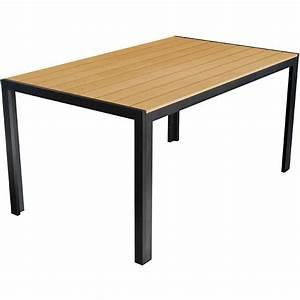 Gartentisch Non Wood : aluminium gartentisch 150x90cm mit polywood non wood tischplatte balkonm bel gartenm bel ~ Eleganceandgraceweddings.com Haus und Dekorationen