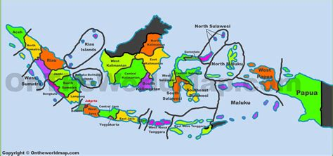 administrative map  indonesia