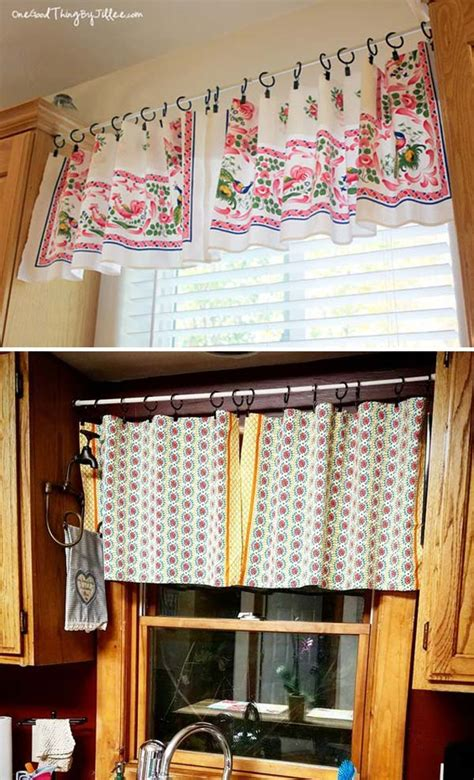 cheap  easy diy window valance ideas