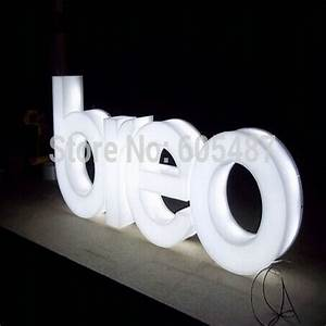 outdoor advertising acrylic illuminated signs 3d led With 3d illuminated letters