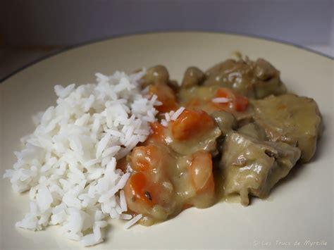 cuisine veau la cuisine de myrtille blanquette de veau aux carottes et