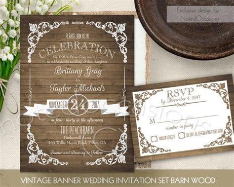 Barn Wedding Invitations : Rustic Wedding Invitation Printable Set Country Wedding