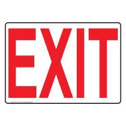 Exit Sign NHE-6739 Enter / Exit, Aluminum 7x5 in.