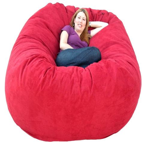 cozy sack 6 bean bag chair large cinnabar