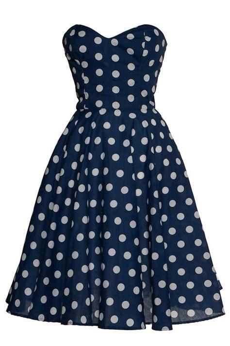 polka dot 50s inspired circle rockabilly dress by