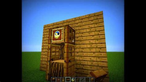 how to make a grandfather minecraft grandfather clock tutorial